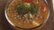 Kerevizli Yeşil Mercimek Çorbası